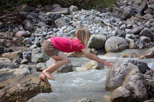 Bewegung bei einem Ausflug in die Natur